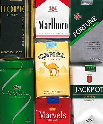 Smoking in the Philippines - A selection of cigarette brands sold in the Philippines