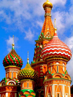 Domes of St. Basil's Cathedral, Moscow