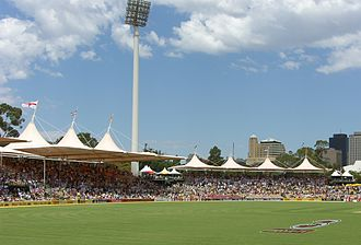 Ian Chappell - The Chappell Stands at the Adelaide Oval, opened in 2003