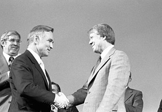 Stansfield Turner - Turner shaking hands with President Carter after being sworn in.