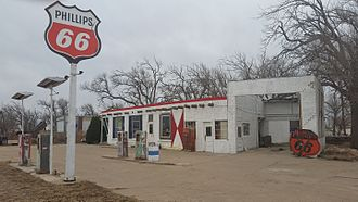 Adrian, Texas - Remnants of more prosperous times along Route 66 in Adrian