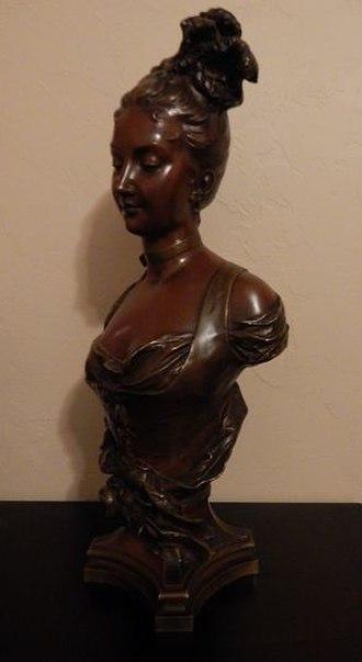 Adrien Étienne Gaudez - Image: Adrien Etienne Gaudez bronze bust