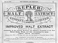 Advert for Kepler, Chemist & Druggist, 1879. Wellcome L0030331.jpg