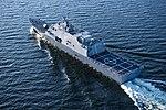 Aerial port stern view of USS Wichita (LCS-13) during acceptance trials US Navy 180711-N-N0101-377.jpg