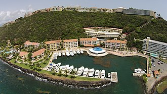 Fajardo, Puerto Rico - Aerial view of El Conquistador Resort and Harbor
