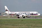 "Aero Lloyd Airbus A321-231 D-ALAK ""Trigema"" special colors (25317984399).jpg"