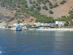 Agia Roumeli - Agia Roumeli from the ferry.