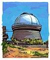 Agnes Karikaturen Armenien Bjurakan-Observatorium Aragaz.jpg