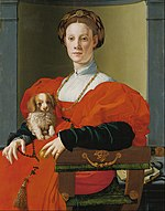Agnolo Bronzino (Jacopo Carucci) - Portrait of a Lady with a Lapdog - Google Art Project.jpg