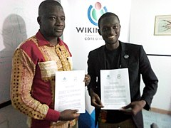Agreement between Wikimedia Côte d'Ivoire and APSID-CI 01.jpg