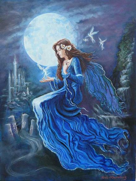 Aine Fairy Queen of Munster, Oil on Canvas, by Tomas O'Maoldomhnaigh Ainefairyqueen.jpg