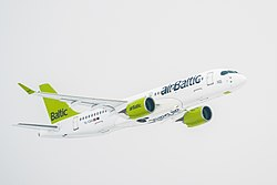 Airbus A220-300 der Air Baltic