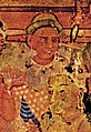 Ajanta cave I Chanpeyya Jataka (foreigner detail).jpg