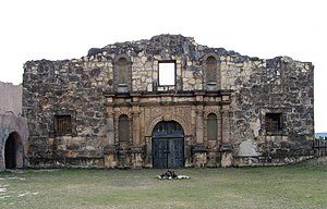 Brackettville, Texas - The replica of the Alamo used in the film The Alamo starring John Wayne.