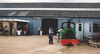 """Alan Keef - Alan Keef's works at Lea; Locomotive """"Woto"""" at an open day in 1999"""