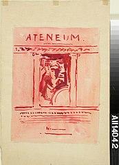 Ateneum-lehden kansiehdotus, julkaisija Wentzel Hagelstam