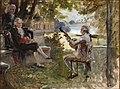 Albert Edelfelt - Bellman Playing the Lute for Gustaf III of Sweden and G.M. Armfelt in Haga Park, sketch.jpg