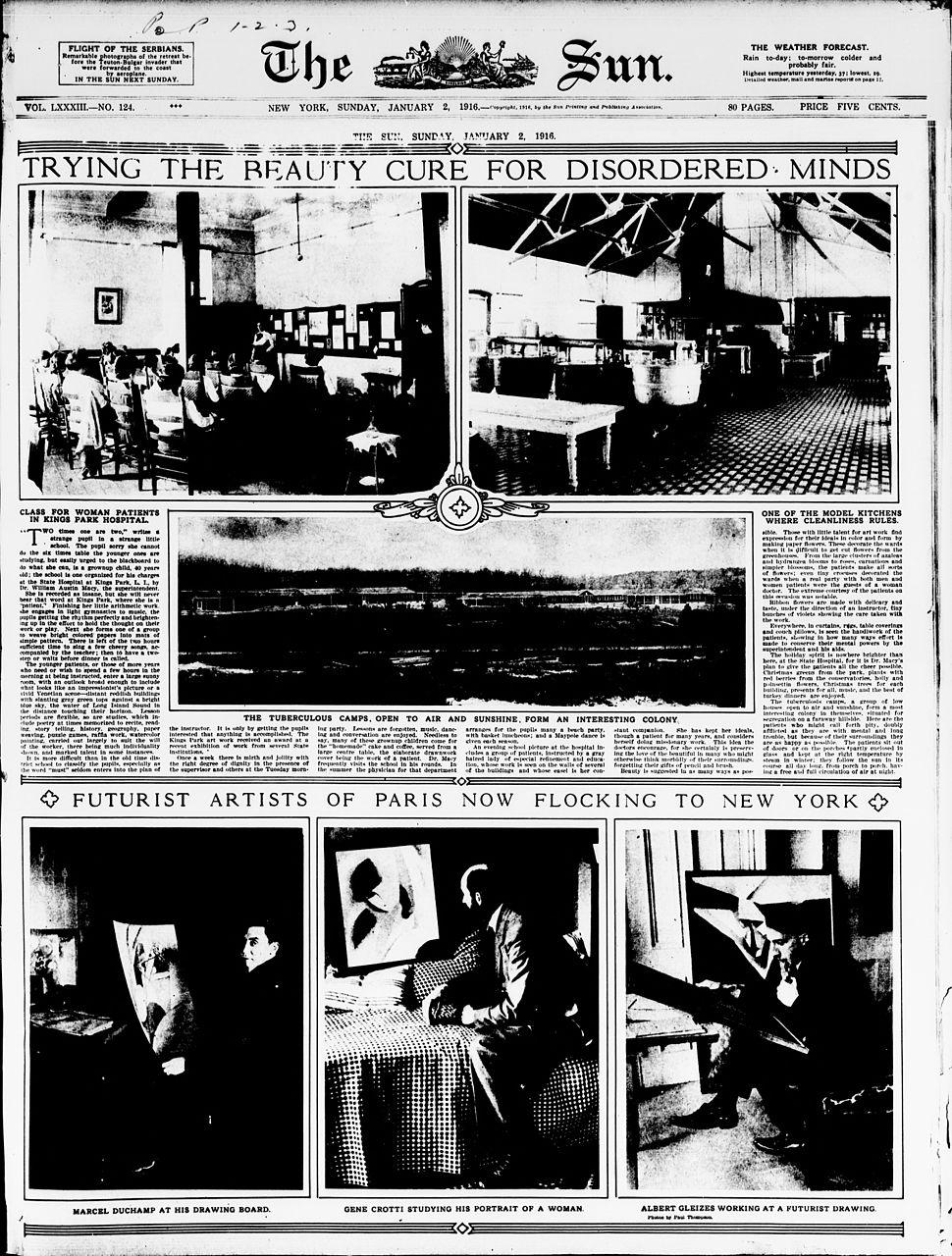Albert Gleizes, Jean Crotti, Marcel Duchamp, The Sun, New York, 2 January 1916