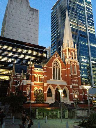 Albert Street Uniting Church - Albert Street Uniting Church, as seen from Albert Street, 2013