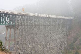 National Register of Historic Places listings in Mendocino County, California - Image: Albion River Bridge