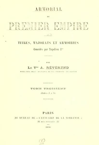 File:Albret Révérend - Armorial du Premier Empire (t. 3, 1896).djvu