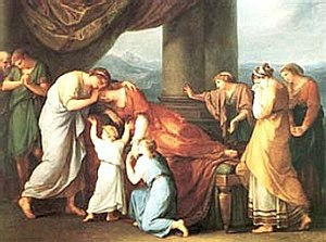 Alceste (Gluck) - The Death of Alcestis by Angelica Kauffman