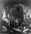 Alchemist in his laboratory, by Thomas Wyck. Wellcome L0010421.jpg