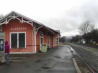Alderson station Amtrak rail station in West Virginia