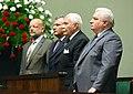 Aleksander Kwaśniewski Ryszard Kaczorowski Lech Wałęsa Obchody XX-lecia odrodzonego Senatu.JPG