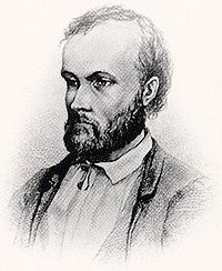 Earliest known image of Aleksis Kivi. Drawn in 1873 almost certainly by Albert Edelfelt.