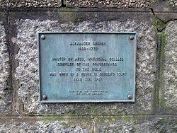Photo of Alexander Cruden grey plaque