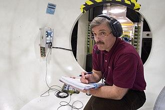 Aleksandr Kaleri - Kaleri participates in a training session at NASA's Lyndon B. Johnson Space Center.