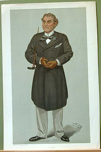 """Algernon Heneage - """"Pompo"""". Caricature by Spy published in Vanity Fair in 1901."""