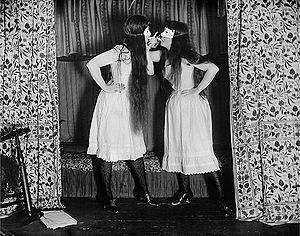Alice Austen - Trude and I Masked by Austen