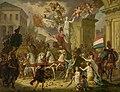 Allegorie op de triomftocht van de prins van Oranje, de latere koning Willem II, als held van Waterloo, 1815 Rijksmuseum SK-A-1216.jpeg