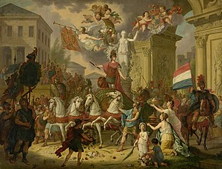 Allegory of the Triumphal Procession of the Prince of Orange, later King William II, as the Hero of Waterloo, 1815