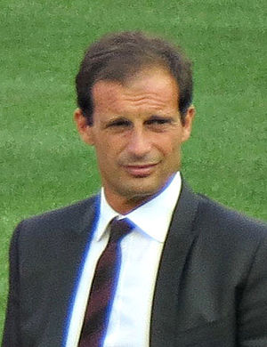U.S. Sassuolo Calcio - Massimiliano Allegri, manager of Sassuolo in 2008 who won promotion to Serie B, winning group A of Serie C1 and the Supercoppa Lega Pro.