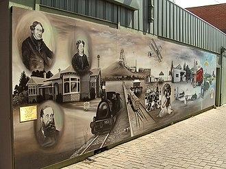 Altona, Victoria - Historical mural for Altona Village Traders Association; artist: Vladimir Bukovec (2006)