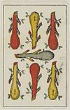 Aluette card deck - Grimaud - 1858-1890 - Seven of Clubs.jpg
