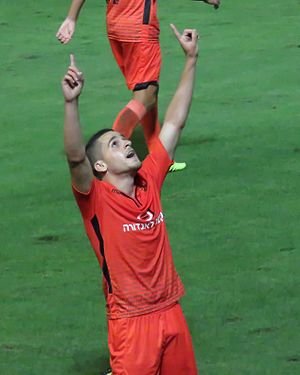 Amir Agayev - Agayev playing for Bnei Yehuda in 2015