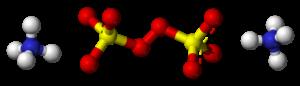 Ammonium persulfate - Image: Ammonium persulfate 3D balls ionic