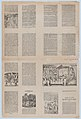 An uncut sheet printed on both sides with pages from 'Ademdai' and 'Agraciado- El niño de un jeme' MET DP873190.jpg
