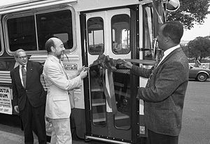 Steven Newsome - Steven Newsome (right) with Acting Smithsonian Under Secretary Alan Fern in 1992.
