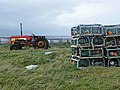 Ancient tractor and lobster pots at Bàgh a Tuath - geograph.org.uk - 1479006.jpg