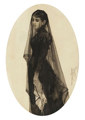 Yibbum - The Widow (1882-83) by Anders Zorn. The widow has to remain unmarried until yibbum or halizah has been performed.