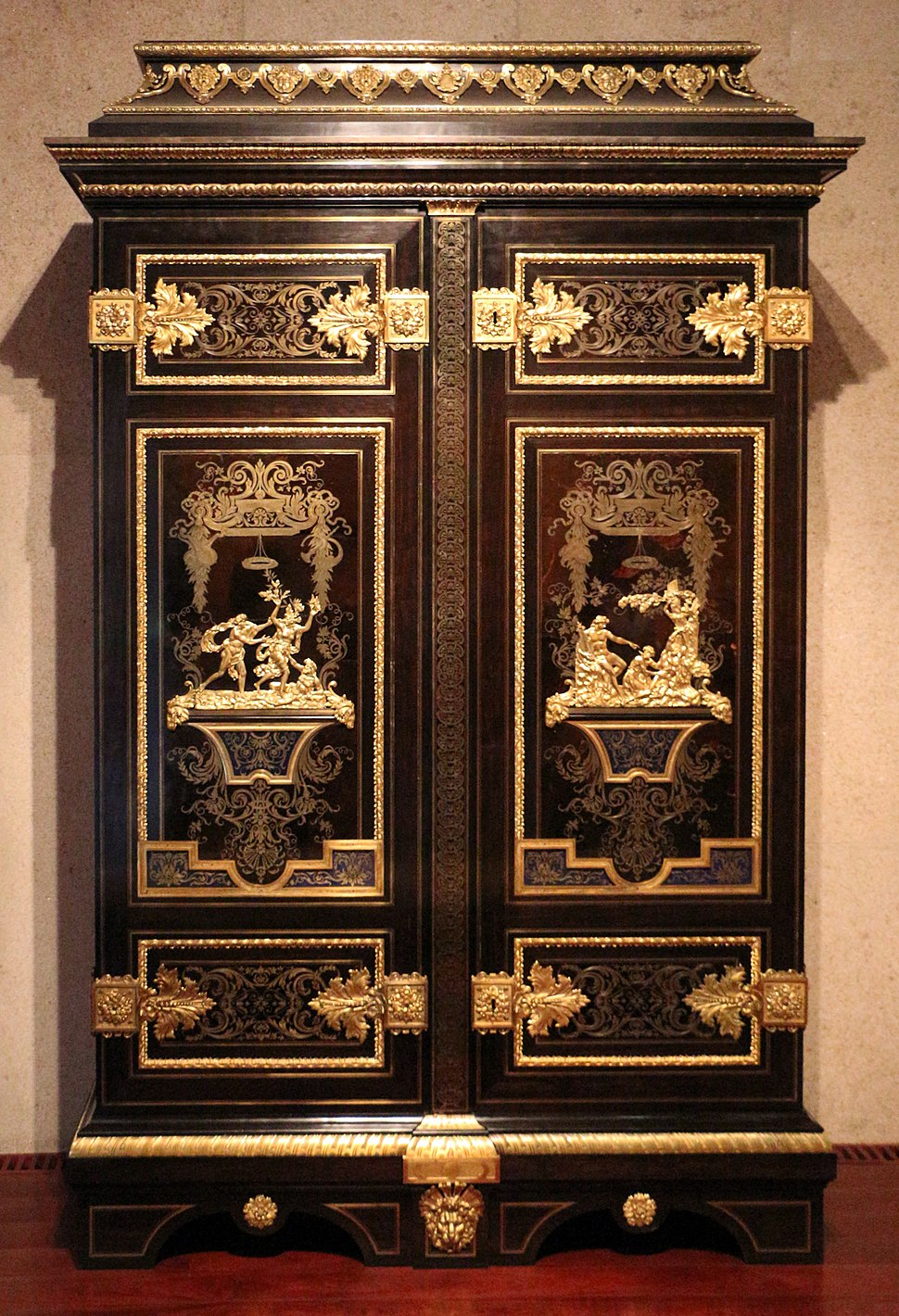 André-charles boulle (attr.), armario, parigi 1700 ca