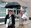 Andreas Paeslack und Bazon Brock 2004 als Schirmherr des Projektes »Im Namen der Kunst«.jpg