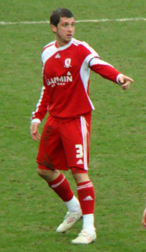 Andrew Taylor (footballer, born 1986) - Taylor playing for Middlesbrough in 2009