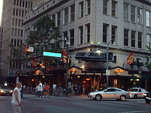 Hotel District - The Hard Rock Cafe Atlanta is located in the Hotel District