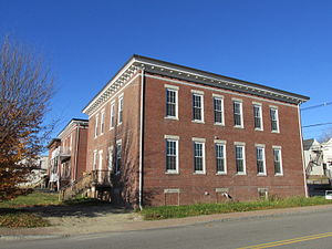 National Register of Historic Places listings in Androscoggin County, Maine - Image: Androscoggin Mill Block, Lewiston ME
